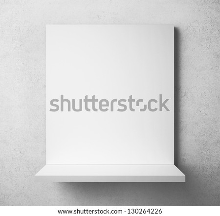 white paper frame on the shelf - stock photo