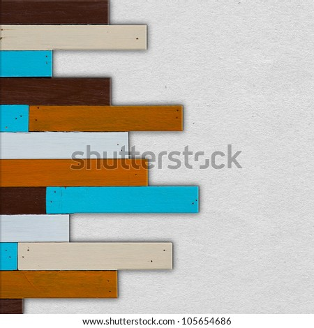 white paper  in  wood, wood frame - stock photo