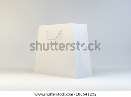 white paper luxury premium shopping carrier bag with cotton or rope handle