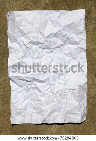 white paper on texture - stock photo