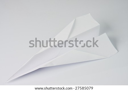 white paper plane - stock photo