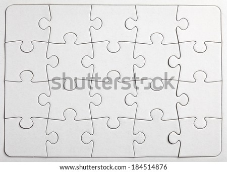 white paper puzzle pieces background