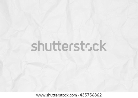 White paper sheet. Closeup crumpled white paper texture. Crumpled white paper background with copy space for text or image. - stock photo