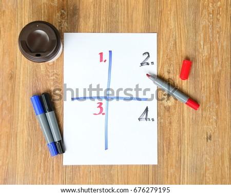 White Paper Sheet Objective Setting Magic Stock Photo Royalty Free