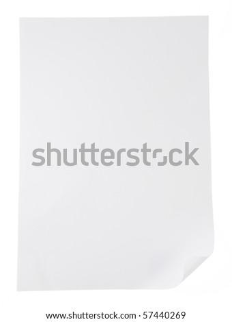 white paper texture - stock photo