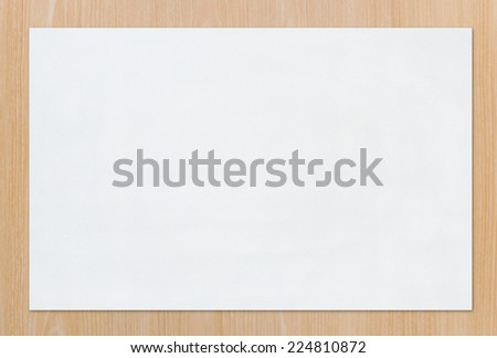White paper texture background for painting, drawing and sketching on wood. - stock photo