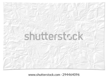 White paper texture. crumpled paper - stock photo