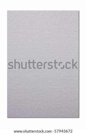 White paper texture isolated on white background - stock photo