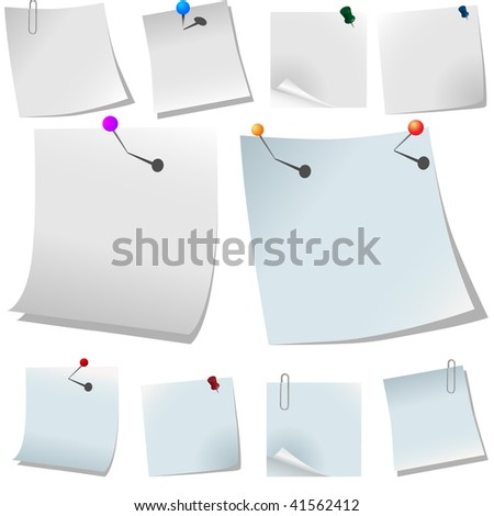 White paper with Pin.