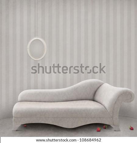 White pastel background for  poster or illustration. - stock photo