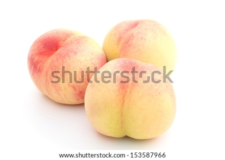 White peach - stock photo