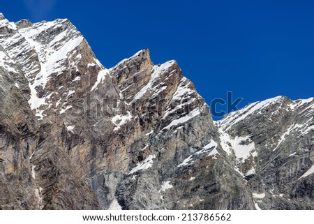 White peak, peak and peak Carrel Maquignaz - Matterhorn Valley - Aosta Valley