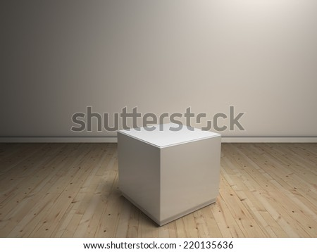 white pedestals to place product - stock photo