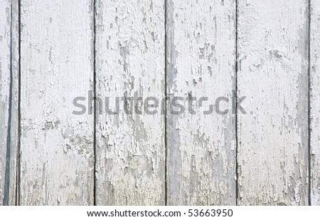 White peeling paint on exterior siding - stock photo