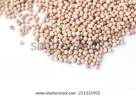 white pepper with copy space - stock photo
