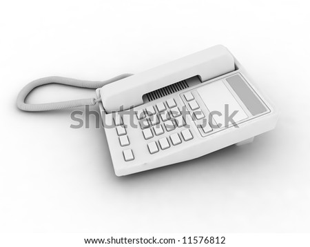 White phone isolated