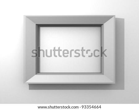 White Photo Frame 3 D Render Stock Illustration 93354664 - Shutterstock