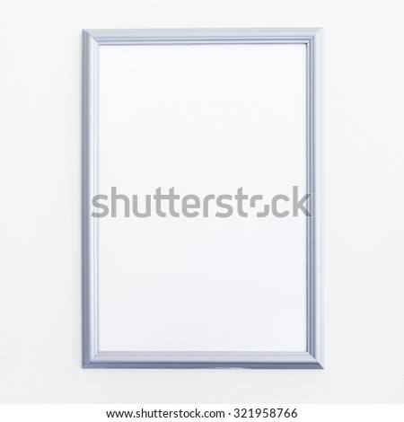 White Picture Frame - stock photo