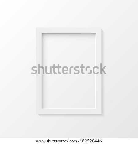 White picture frame illustration. (EPS vector version also available in portfolio) - stock photo