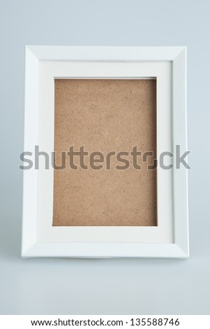 White picture frame isolated - stock photo