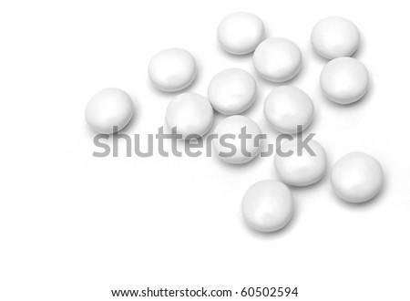 white pill - stock photo
