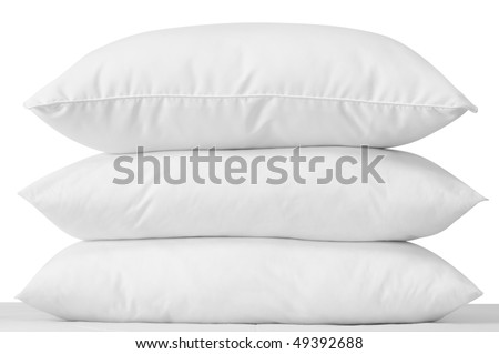 White pillows. Isolated