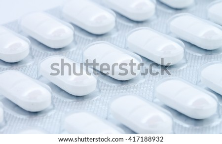 white pills in blister pack