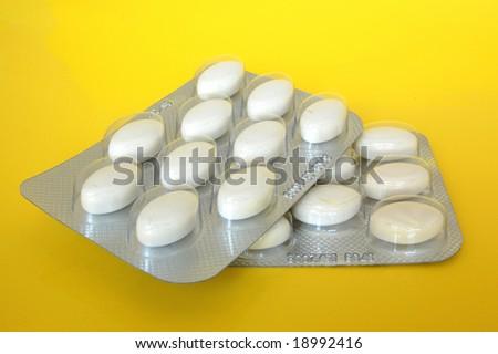 White Pills Medicine - stock photo
