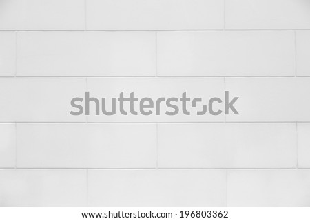 White plain and clean brick wall, bathroom indoor texture - stock photo