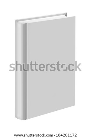 White, plain, standing book - stock photo