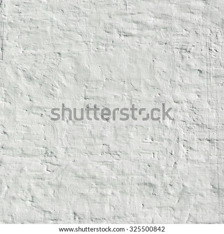 White Plastered Brick Wall Rectangle Texture Background - stock photo