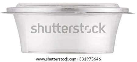 White plastic bowl with cap. File contains clipping paths. - stock photo