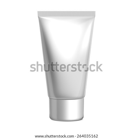 White Plastic Cosmetic Tube With Cap
