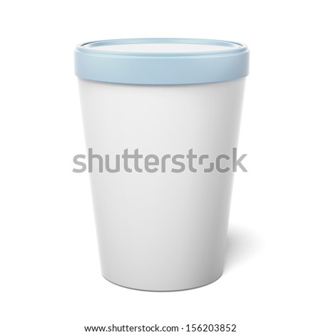 White Plastic Tub Bucket Container