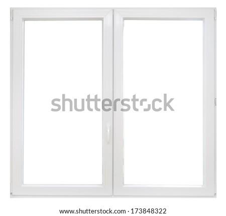 White plastic window - stock photo