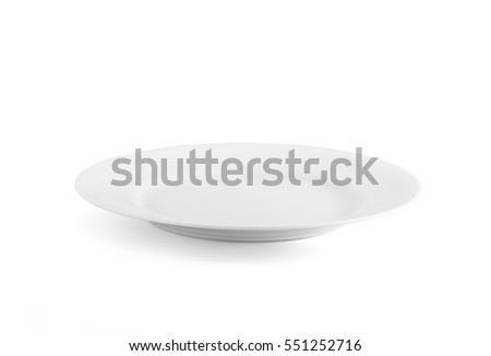 White plate isolated on white