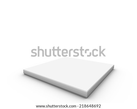 white platform to place product - stock photo