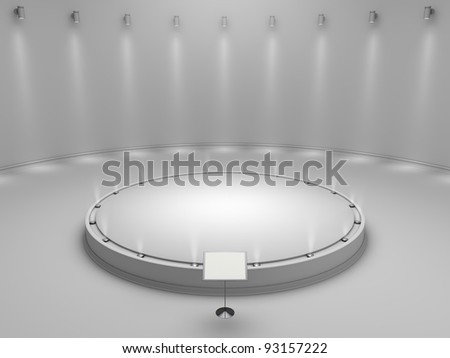 white podium for your object - stock photo