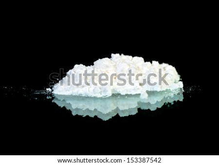 White powder on the mirror - stock photo