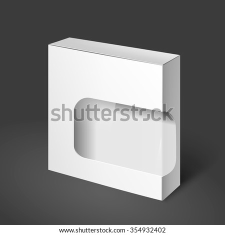 White Product Cardboard Package Box For Software, DVD, Electronic Device And Other Products. Mockup Template Ready For Your Design. Empty box. Template box. White box.
