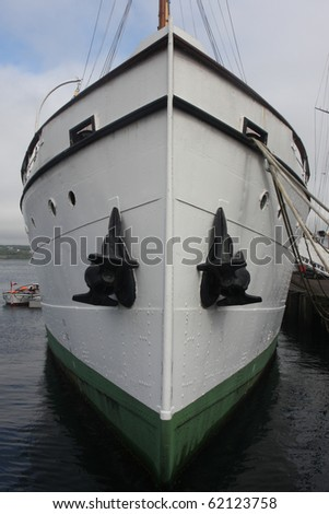 White Prow with Black Anchors