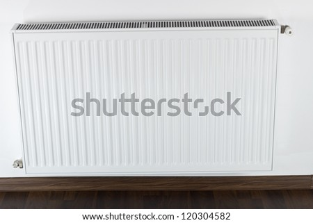 white radiator - stock photo