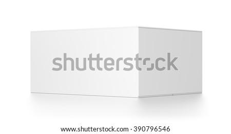 White rectangle blank box isolated on white background. - stock photo