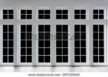 white residential window frame - stock photo
