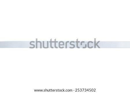 White ribbon on white background - stock photo