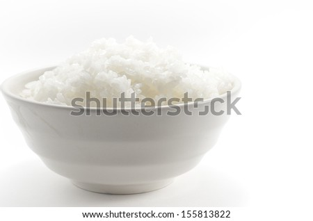 White rice in japan