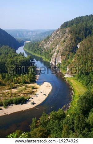 White river, Russia, Ural - stock photo