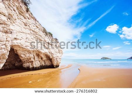 White rocks near Vieste, Italy - stock photo