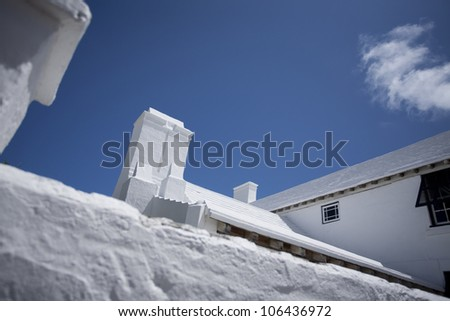 White Roofs in Bermuda - stock photo
