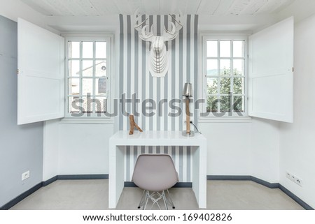 White room interior with decorative furniture. - stock photo
